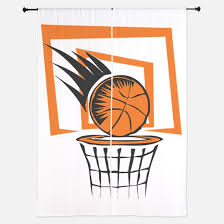 Basketball Curtains Basketball Girls Window Curtains U0026 Drapes Basketball Girls