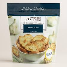 ace bakery roasted garlic crisps world market