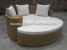 Round Outdoor Sofa Modern Outdoor Rattan Sofa Bed Garden Round Bed Wicker Outdoor