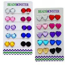 clip on earrings for kids glass clip fashion earrings ebay