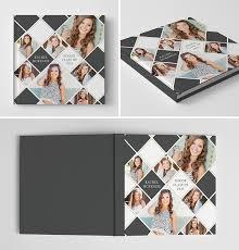 graduation photo album senior album book cover template for photographers photoshop