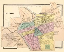 Map Of Marion Ohio by Antique Map Vintage Map Of Dayton Antique Dayton Ohio City