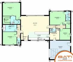 plan maison contemporaine plain pied 3 chambres plan maison 3 chambres plain pied plan de la maison habitat concept