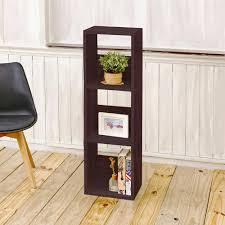 Narrow Bookcase Espresso by Concepts In Wood Midas Double Wide 12 Shelf Bookcase In Espresso