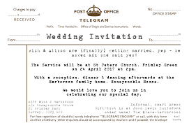 Telegram Wedding Invitation Wedding Design Your Personalised Invitations Proof And Buy Online