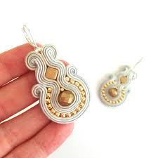 soutache earrings soutache earrings dangle earrings sabo design