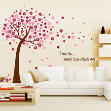 cherry wallpaper 42 wujinshike com romantic design beautiful giant pink cherry blossom flowers tree wall stickers decal art mural nursery wallpaper