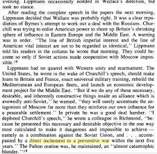 Iron Curtain Speech Liveblogging The Cold War March 10 1946 Walter Lippman U0027s
