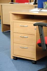 Shallow Desk Three Drawer Mobile Pedestal With Three Shallow Drawers Which Are