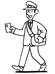 mailman hat coloring page postman 2 coloring page post office pinterest community