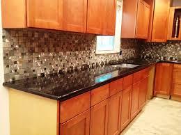 black granite countertops with tile backsplash dissland info