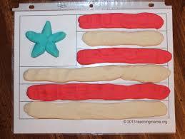 playdough flag teaching mama