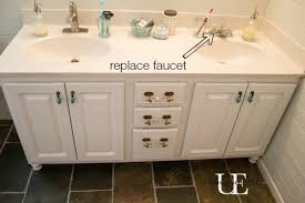 How To Replace Bathroom Vanity by How To Transform A Builder Grade Bathroom Vanity For Less
