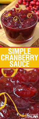 simple cranberry sauce with cranberry sauce sauces and