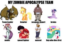 My Zombie Apocalypse Team Meme Creator - zombie apocalypse team meme by gorshmidtii on deviantart