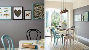 Deep Fossil And Egyptian Cotton Dining Room Colour Ideas