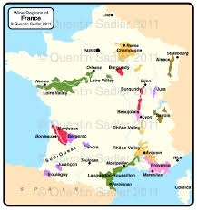 A Map Of France by France Quentin Sadler U0027s Wine Page