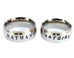 batman engagement rings low cost batman and robin inspired ring set best friends