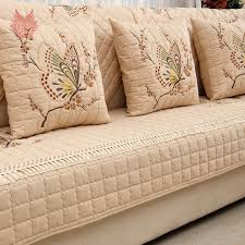 sofa cover pastoral butterfly embroidered sofa cover slipcovers cotton canape