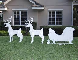 deer lawn decorations delightful wooden yard