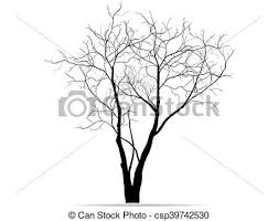 vectors of dead tree without leaves vector illustration sketched