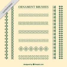 vintage ornament brushes collection vector free