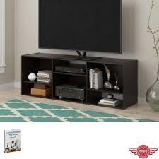 minimal decor livingroom console stand tv shelves narrow media storage modern