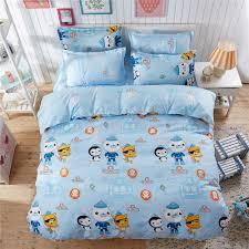 Octonauts Bed Set Blue Color Bedding Sets 4pc Sets 100 Polyester