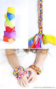 design for kids crepe paper bracelets babble dabble do