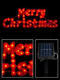 led solar merry sign 49cm lights the