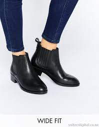 womens chelsea boots nz asos about wide fit leather chelsea boots black offer