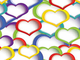 heart design for powerpoint rainbow heart design for powerpoint ppt backgrounds love templates