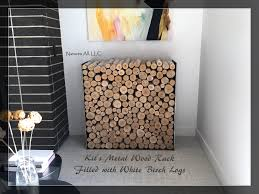 decorative white birch fireplace logs 6 piece set 16 inch lengths