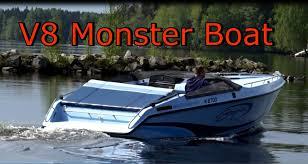 v8 monster boat baja 240 sport start engine youtube