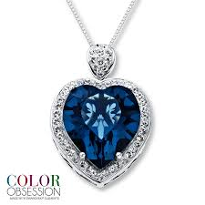 blue heart necklace jewelry images Jared blue heart necklace crystal sterling silver jpg