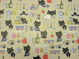 gift wrapping paper imported cats in the kitchen 2 sheets 21