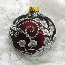 soft silver white and black painted 3d floral mud ornament