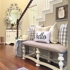 designs ideas chic hallway decor with cozy bench seat feat