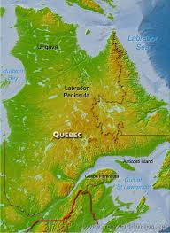 Yellow River On World Map by Physical Map Of Quebec