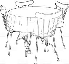 drawing of a kitchen table stock vector art 610651638 istock