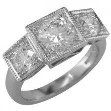 stone rings style images Diamond three stone ring art deco vintage design jpg