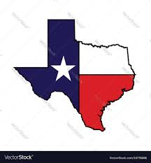 Texas Map Picture Us State Of Texas Map Logo Design Royalty Free Vector Image