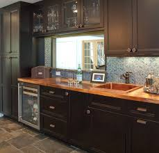 kitchen backsplash ideas black cabinets 75 beautiful kitchen with black cabinets and blue backsplash