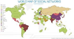 Canada World Map by World Map Of Social Networks Visual Ly