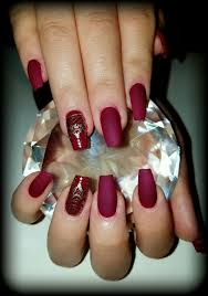 wine red and gold design nails flirtatious nails pinterest