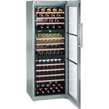 liebherr 178 bottle freestanding wine storage cabinet stainless