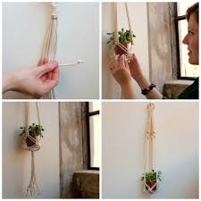how to tutorial top macrame knots for hanging planters wrapping
