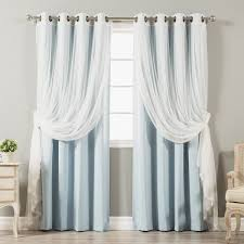 Drapes With Grommets 4 Piece Sheer Blackout Grommet Top Curtain Panels Free Shipping