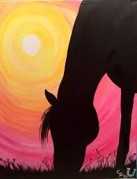 best 25 silhouette painting ideas on pinterest galaxy art