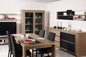 modern dining room sets for small spaces dining room modern wooden dining table varnished with brown paint